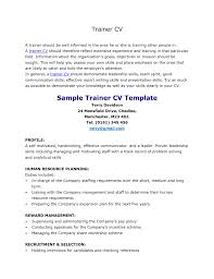 personal trainer resume template personal resume resume badak personal trainer