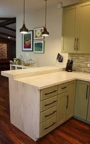 kitchen design dark laminate wooden floor stylish l shape marble dark laminate wooden floor stylish l shape marble countertop shaker kitchen cabinet block knife pendant light ceramic tile backsplash