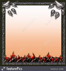 halloween frame flaming halloween scrapbook page illustration