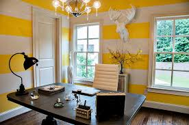 Energize Your Workspace  Home Offices With Yellow Radiance - Home interior wall design 2