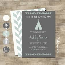 teepee baby shower invitation indian baby shower invite