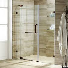 vigo pirouette 42 to 48 in frameless shower door with 375 in