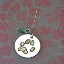 personalized paw print necklace pet memorial jewelry custom paw print jewelry