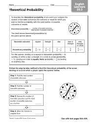 theoretical probability worksheets worksheets