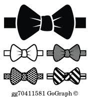 vector art black and white bow tie clipart drawing gg60553313