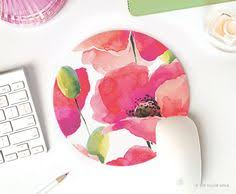 Floral Desk Accessories Pink Mousepad Mousepad Mouse Pad Chevron Mouse Pad