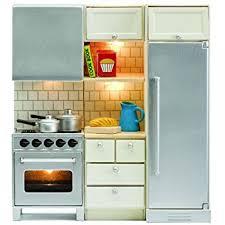 dollhouse furniture kitchen amazon com lundby smaland dollhouse stove fridge set toys