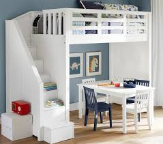 How To Make A Bunk Bed With Desk Underneath by Catalina Stair Loft Bed Pottery Barn Kids