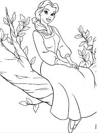 disney princesses belle coloring pages coloring kids