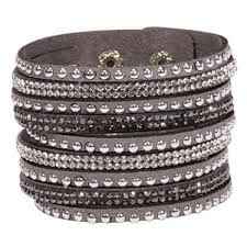 bracelet women images Grey leather anchor bracelet for men and women unisex leather jpg