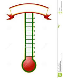 Free Thermometer Template For Reaching Goals Visual Motivation Thermometer For Fundraising Template