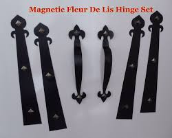 Peninsula Overhead Doors by Magnetic Garage Door Decorative Hardware Kit Hinges Fleur De Lis1