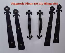 fatezzi faux wood garage doors magnetic garage door decorative hardware kit hinges fleur de lis1
