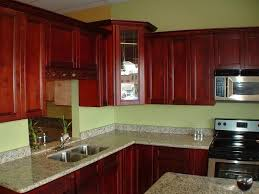 Red Mahogany Kitchen Cabinets Kitchen Cabinet Color Schemes Gray Pallet Wall Paint Red Wall