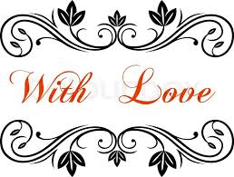 Wedding Design Antique Border Or Frame And Text With Love In Middle For Valentine