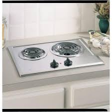 Ge Modular Cooktop Ge 21 In Coil Electric Cooktop In Stainless Steel With 2 Elements