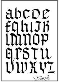 trend graffiti style gothic alphabet for graffiti