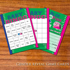 football themed gender reveal cards