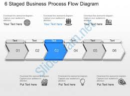 pf 6 staged business process flow diagram powerpoint template