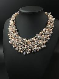 crystal pearl necklace images High quality full crystal pearl necklace jahnell 39 s closet jpg