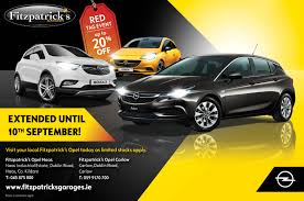 opel red fitzpatricks opel red tag event offer extended fitzpatricks garages