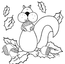 autumn squirrel coloring pages animal coloring pages of