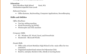 first resume exle for a high student sle resume for highschool students high student job