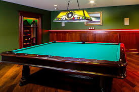 Mustang Pool Table Classic Basement With Yellow Sterling Billiard Pool Table Light