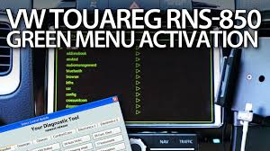 how to access hidden service menu in vw rns510 golf passat