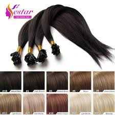 fusion u nail tip hair extension straight brazilian virgin natural