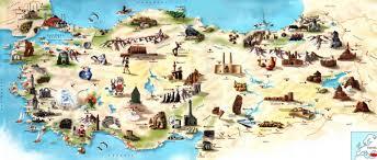 touristic map of map of touristic places in turkey travel around the world