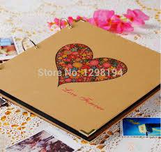 photo albums for couples 12 inch big vintage handmade diy photo album kraft scrapbooking