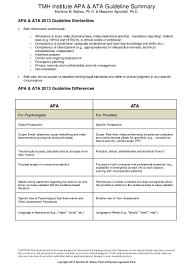 apa ata comparison best practice checklist 6