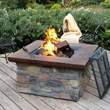 wood burning fire table important square wood burning fire pit have to it red ember sheridan