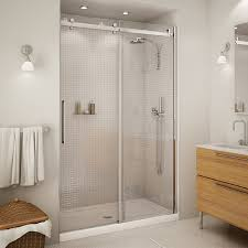 48 Shower Doors Halo 48 Clear Glass Shower Door By Maax Bargain Outlet