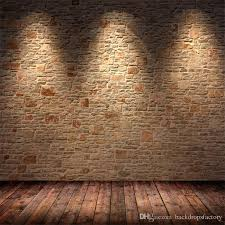 back drop indoor brick wall photography backdrop with light brown wooden