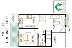 1 bhk floor plan 1 bhk floor plan for 20 x 30 plot 600 square feet 67 squareyards