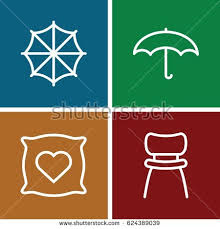 Comfort Icon Set 9 Comfort Filled Outline Icons Stock Vector 728962561