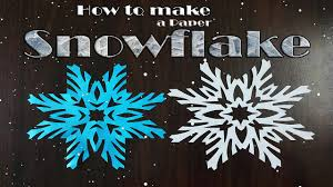 Make Christmas Decorations At Home by How To Make Paper Snowflakes Very Simple Christmas Decorations
