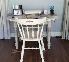 Craft Room Tables - old oak table redo into craft table my repurposed life