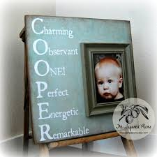 personalized baby name picture frame custom children photo