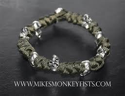 metal bead bracelet images Custom paracord bracelet with metal skull beads gif