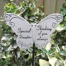 memorial butterfly special daughter graveside ornament amazon co