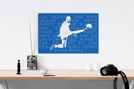 zinedine zidane canvas wall art zizou football legend