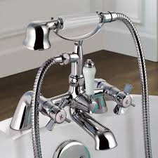alamere traditional bath mixer tap with hand held shower bath alamere traditional bath mixer tap with hand held shower