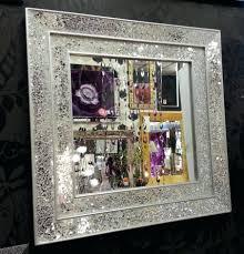 splendid large ornate silver square wall mirror quatrefoil best