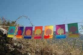 tree of life prayer flags gardening gift yoga yogi outdoor