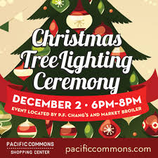 market commons tree lighting ceremony pacific commons celebrates the holiday season with its annual tree