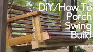 diy porch swing build youtube