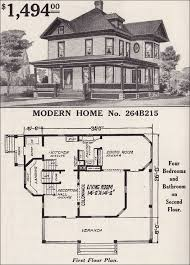 sears homes floor plans 1916 sears modern home no 264b215 late cross gable